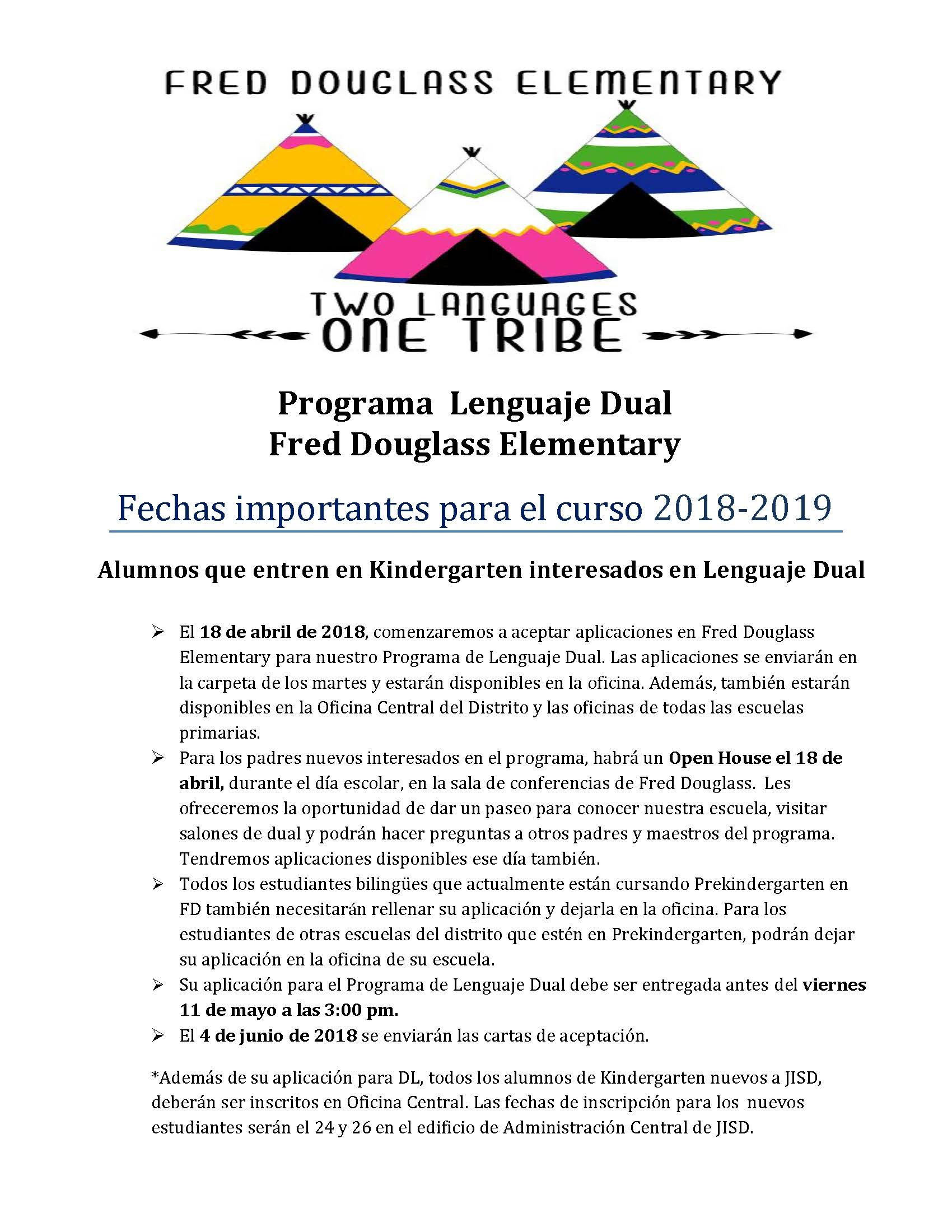 flyer for dual language in spanish