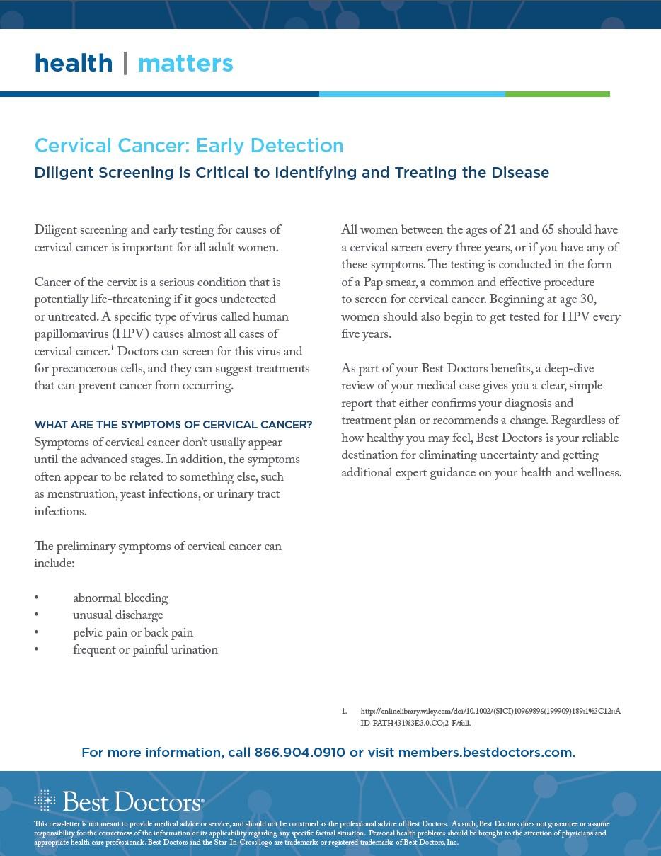 Best Doctors Cervical Cancer