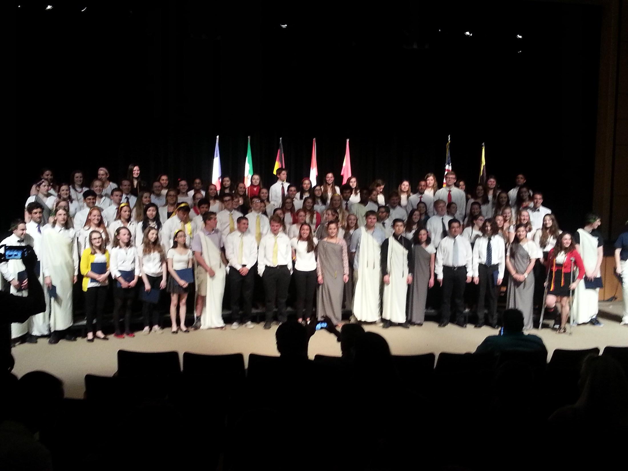World Languages honor society induction