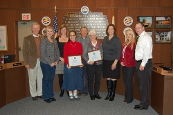 Judy Munger _ Nancy Cobb with School Board _ ESTA President _ Superintendent.jpg