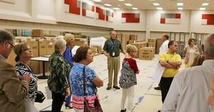 Board of Trustees and district administrators tour La Porte High School. Aug. 8, 2017