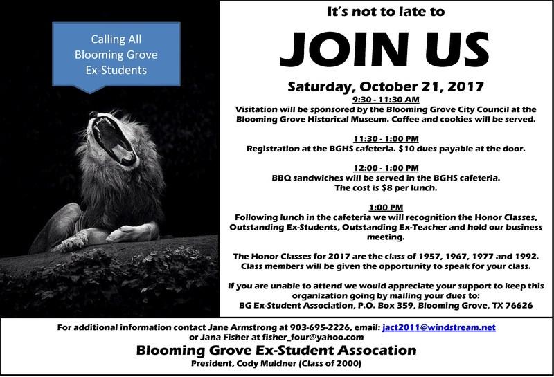 BG Ex-Student Association Meeting Thumbnail Image