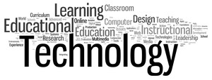It is a picture composed of many words, Technology is the biggest word that appears on the screen, followed by education and learning.