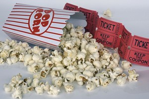 Picture of Popcorn and Movie Ticket