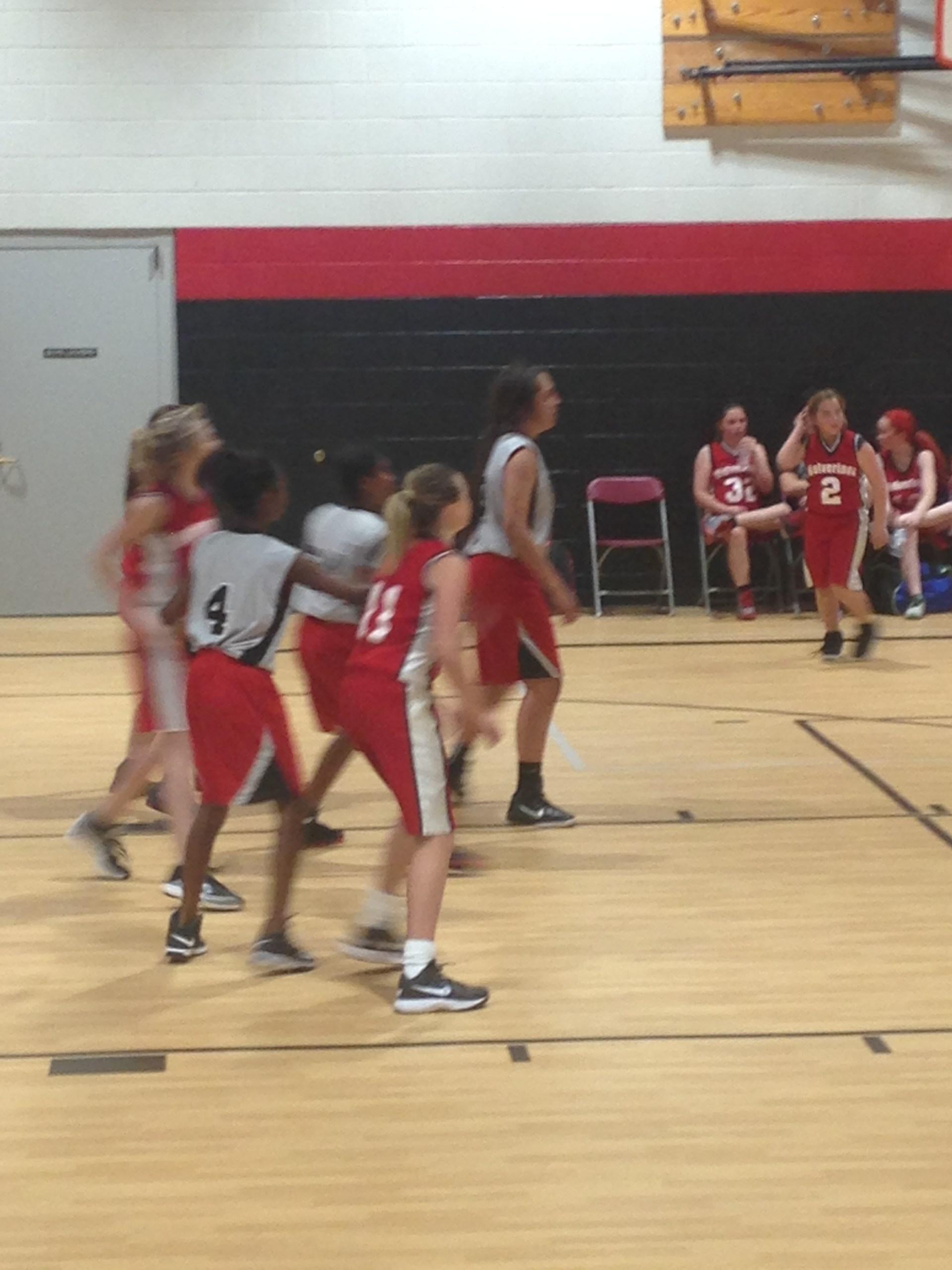 Girls basketball game.