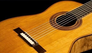 A stock photograph of a guitar.