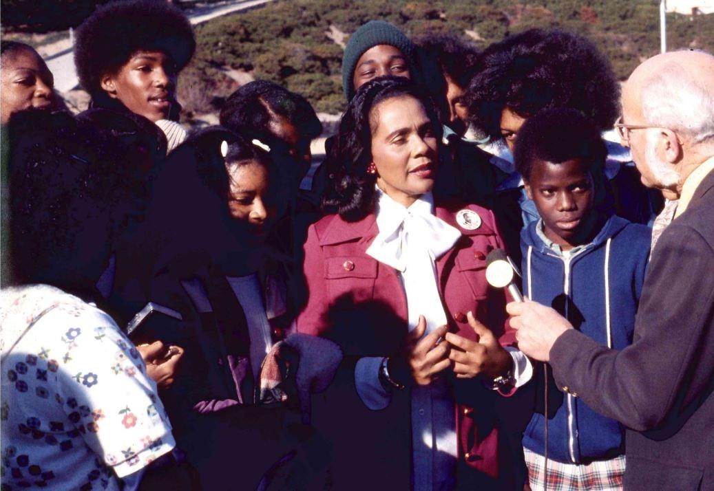 Coretta Scott King visit Jan 1978