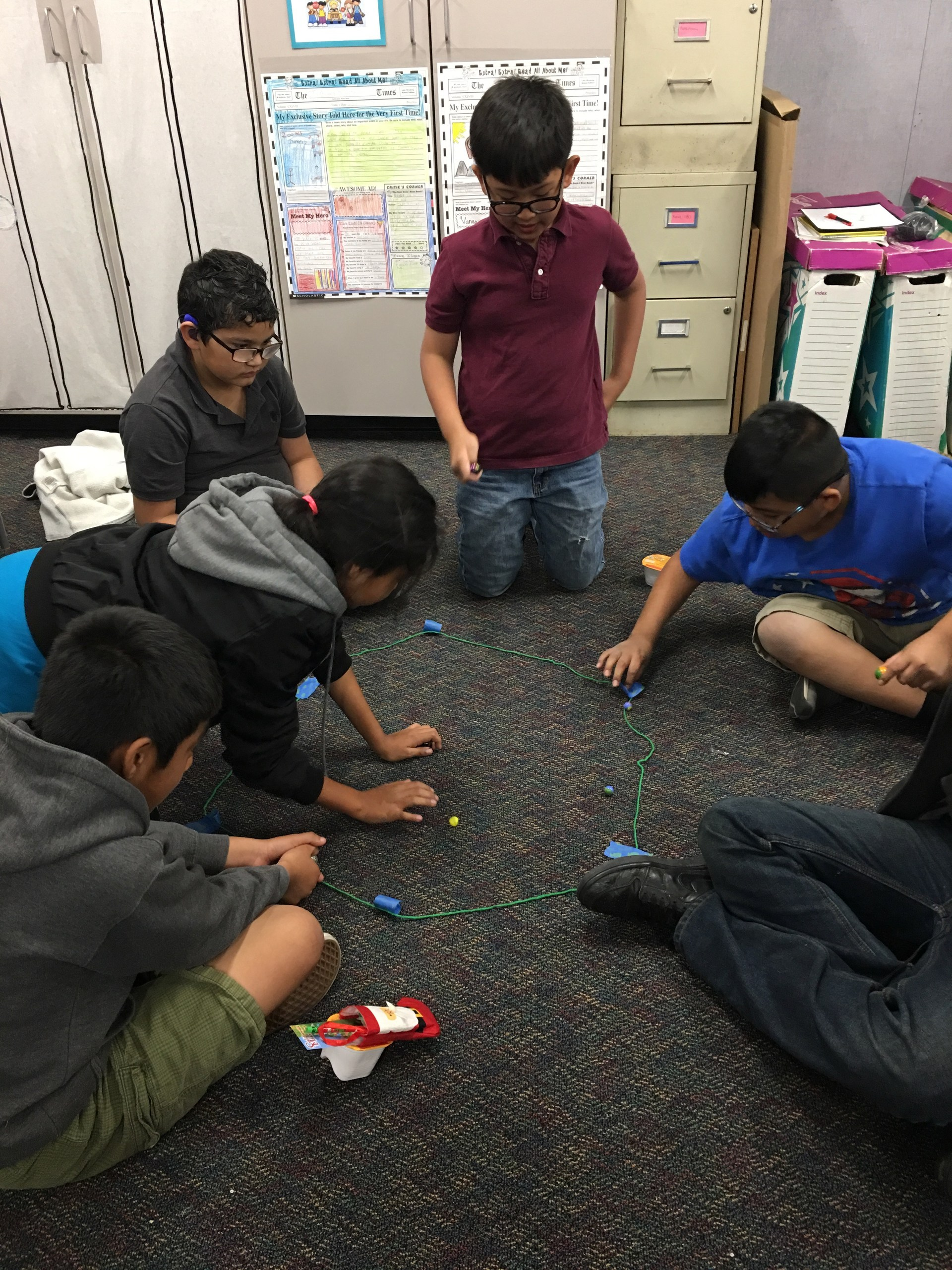 Playing Marbles after Read180 Unit on the sport
