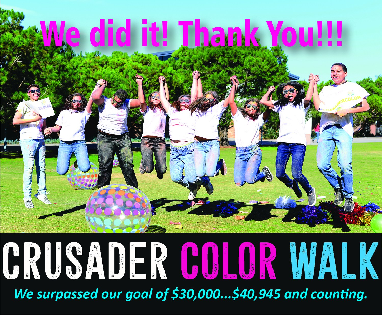 2018 Crusader ColorWalk: We Did It! Image