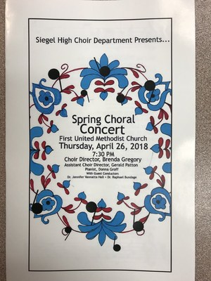 Choir Concert flyer