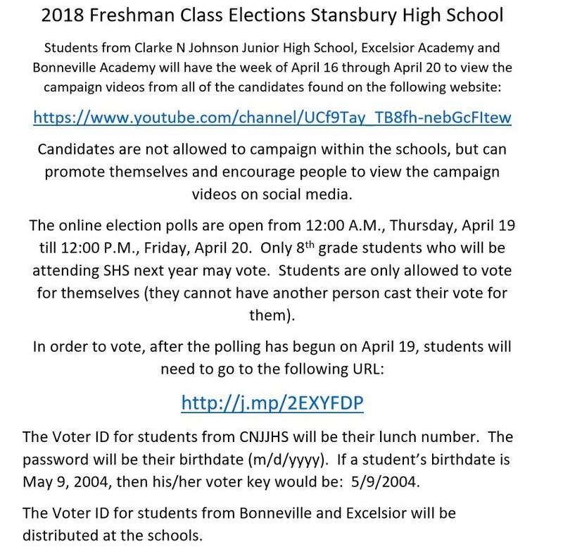 SHS 9th Grade Student Elections Thumbnail Image