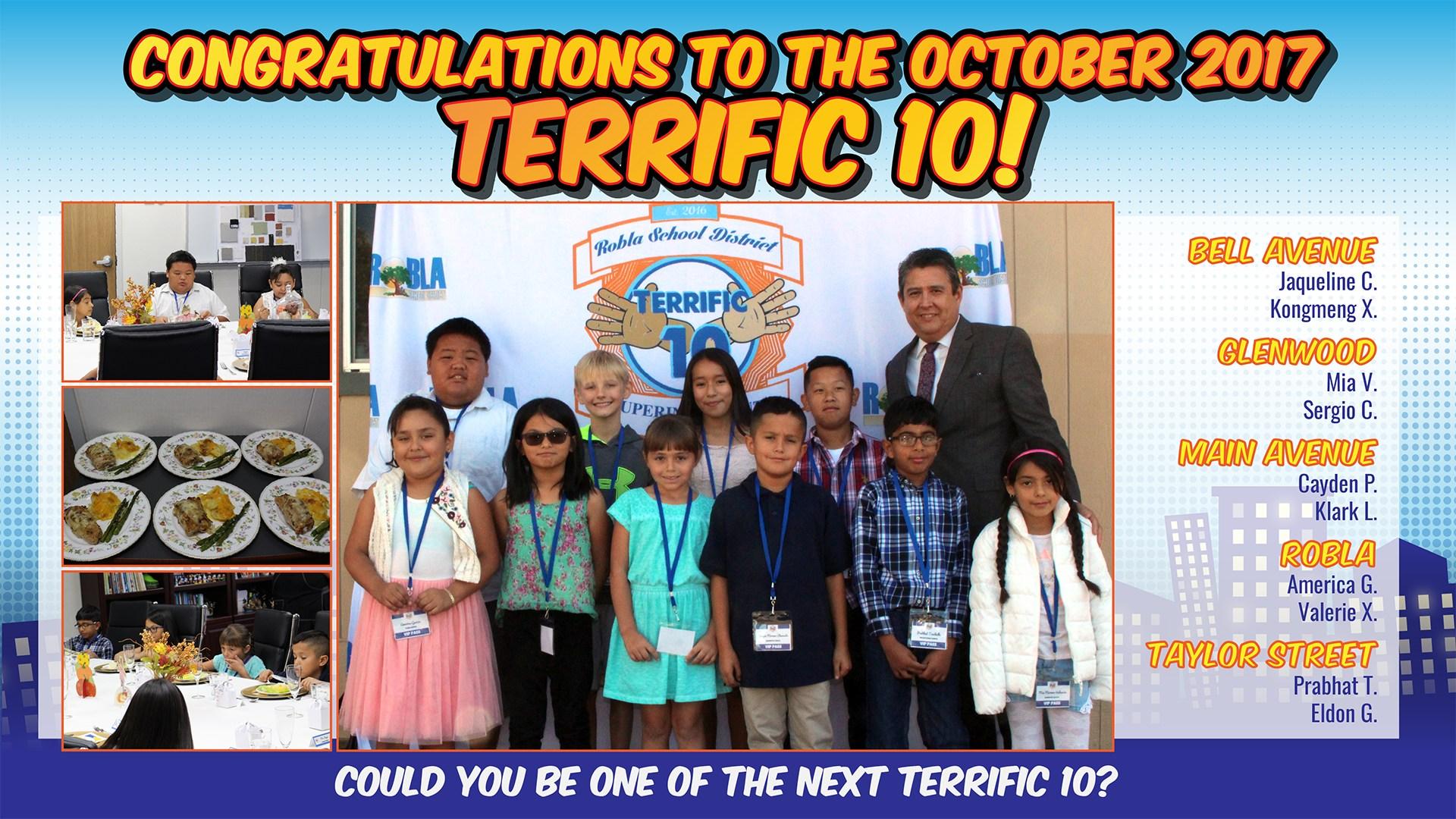 Terrific 10 - October 2017