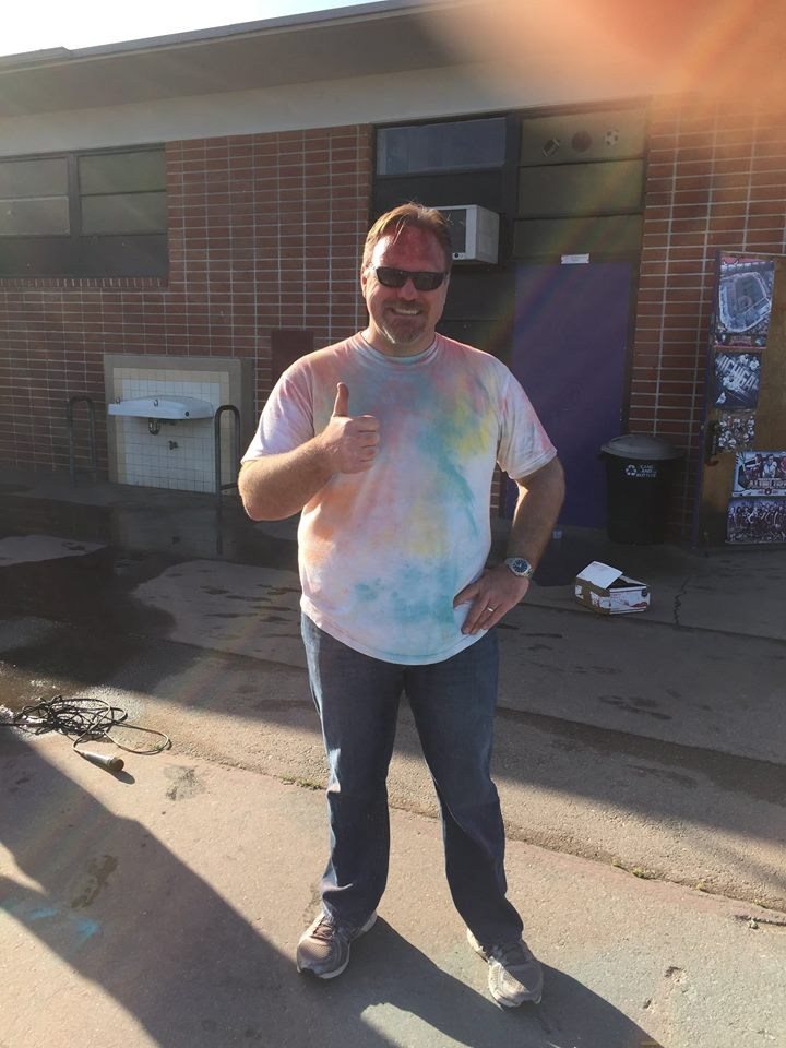 Principal Mayernik at the Color Run