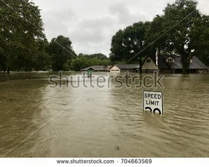 Flooding in Houston following Hurricane Harvey