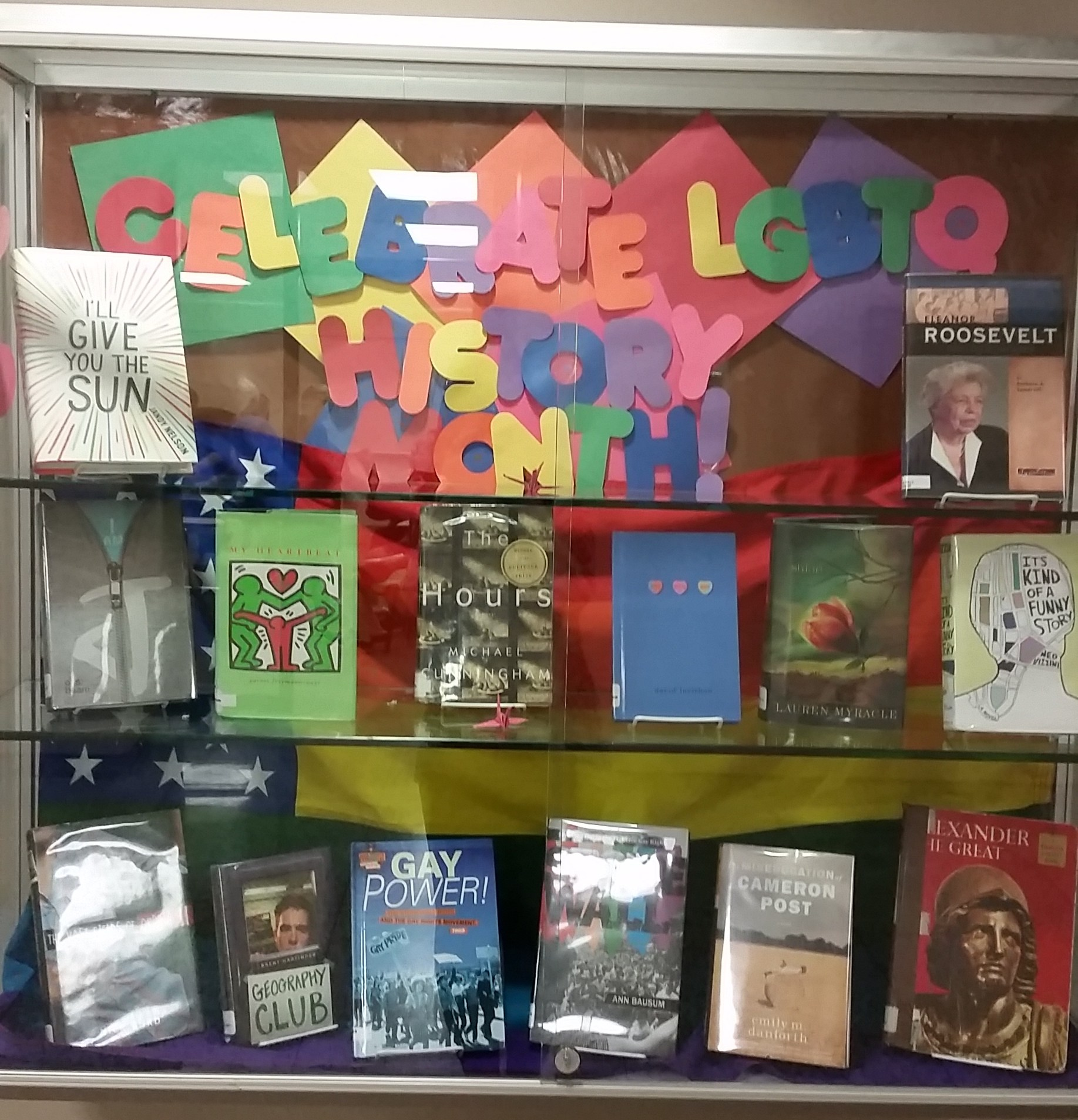 LGBTQ History Month Display