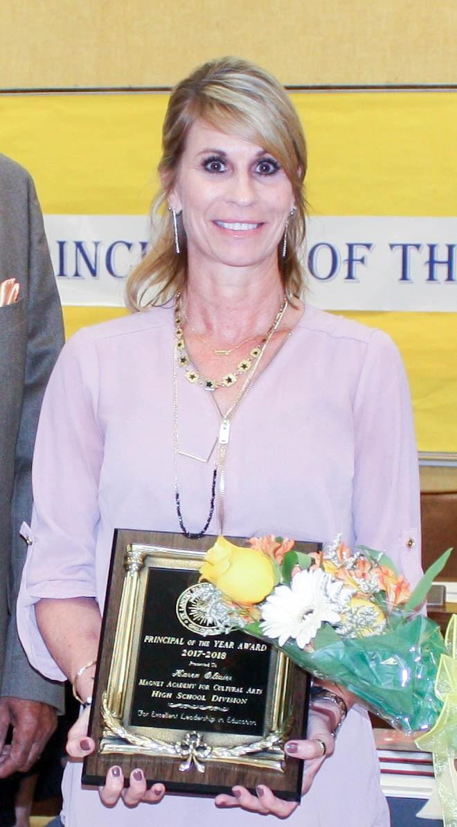 principal of the year Karen Olivier