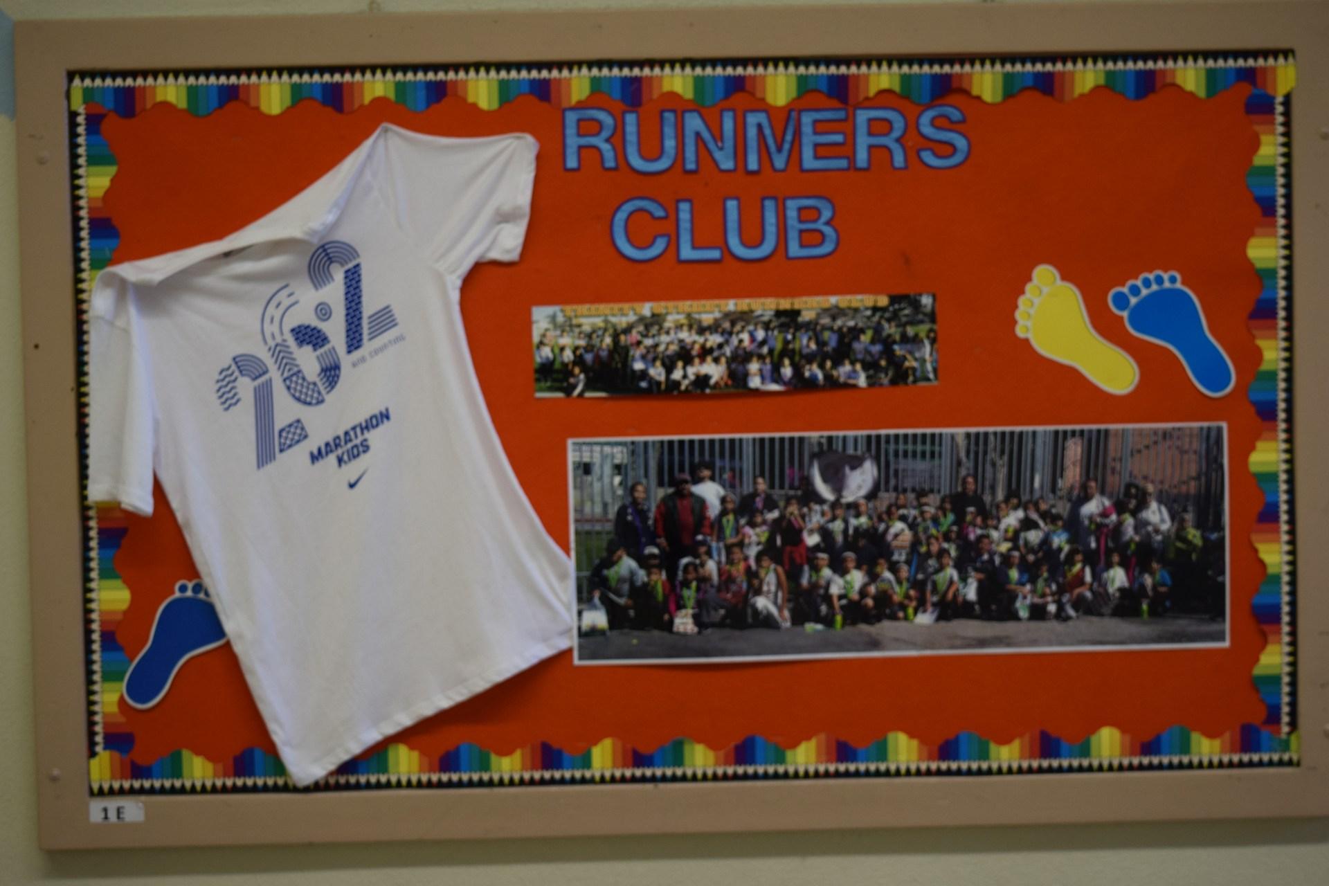 runner's club bulletin board