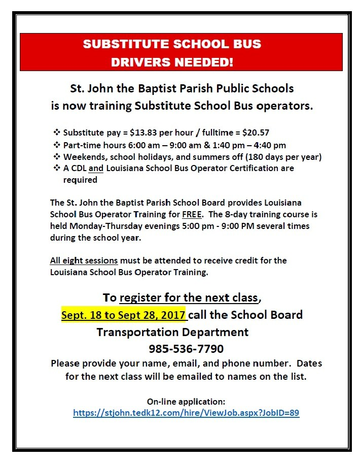 Bus Driver Opportunity