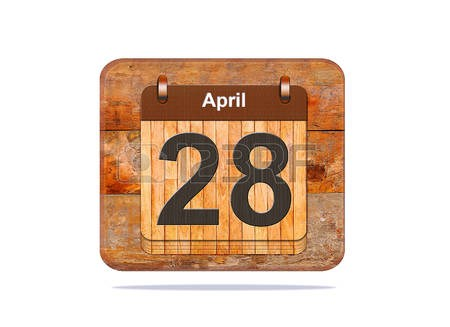 image of the date april 28th
