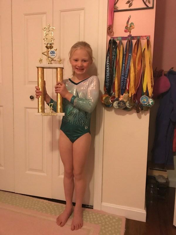 Congratulations Sienna Ralphs!  First Place All Around Aim High Gymnast! Featured Photo