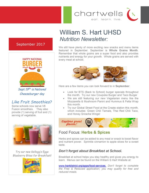 Food Service September Newsletter Featured Photo