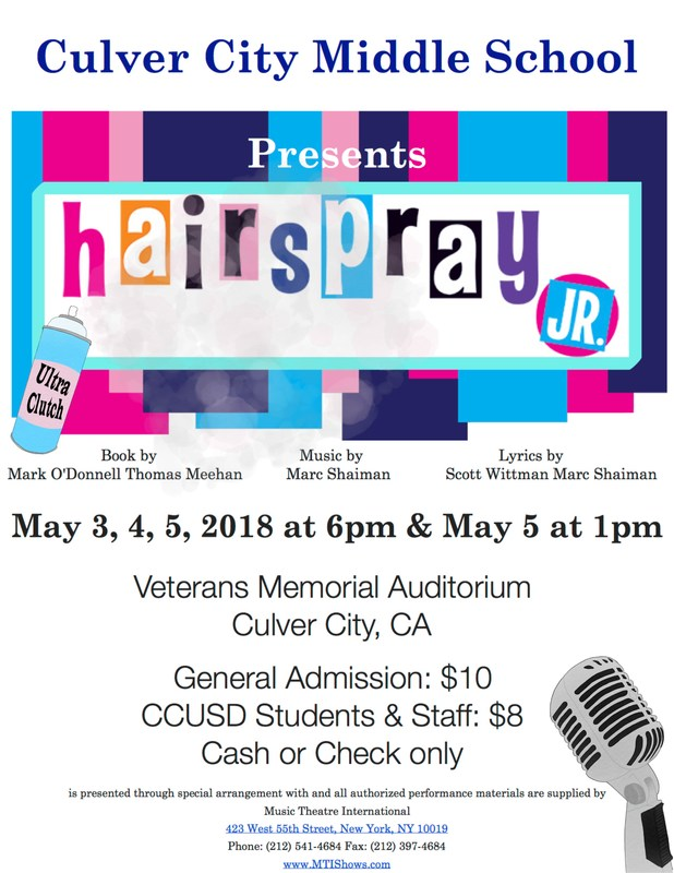 CCMS Performances presents Hairspray, Jr. Thumbnail Image