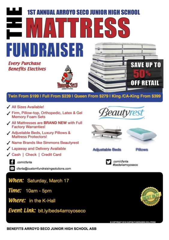 The Mattress Fundraiser - Sat, March 17th Featured Photo