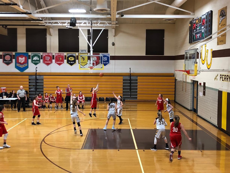 7th grade girls basketball at Mt. Orab