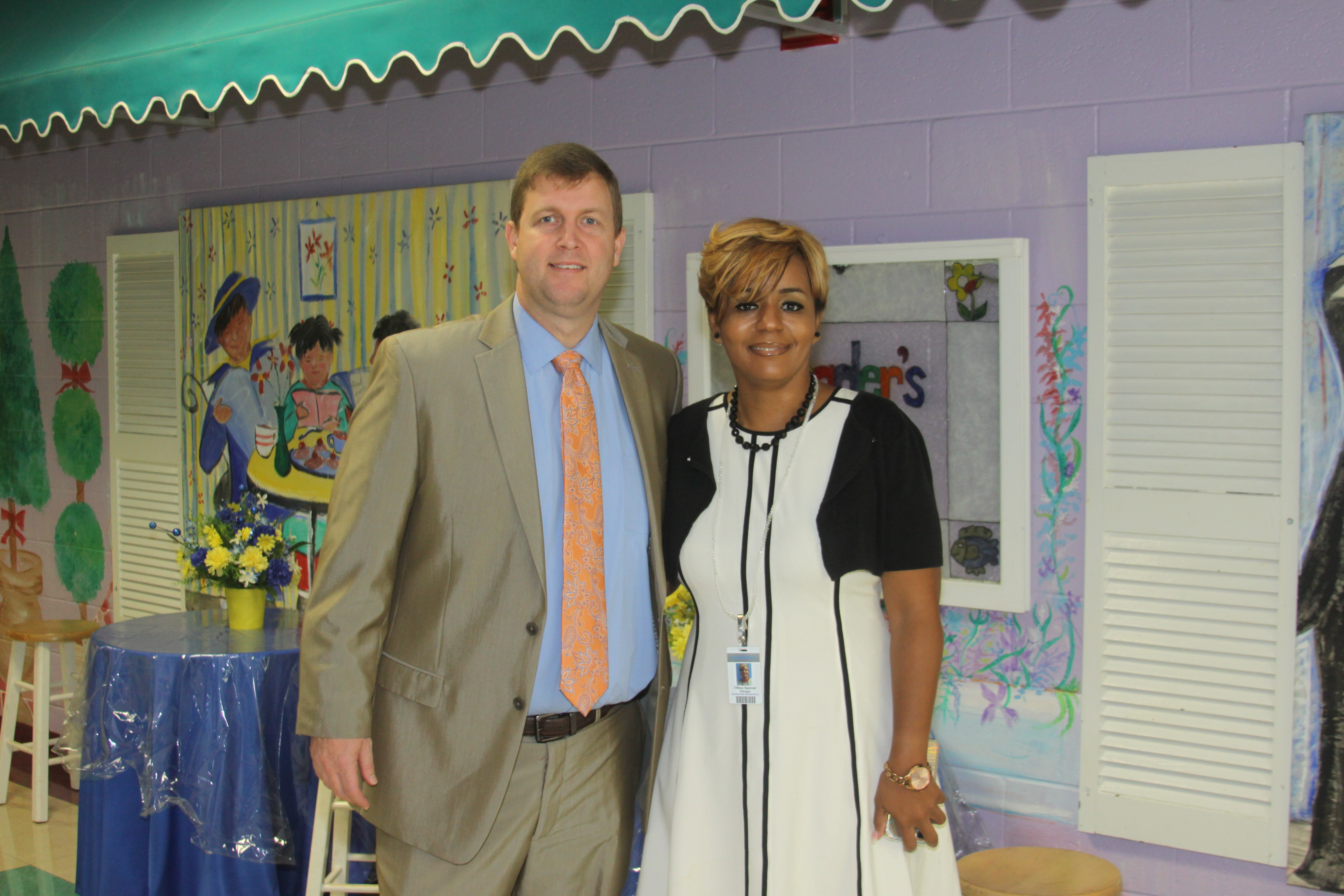 Principal Ms. Spencer with Dr. Douglass