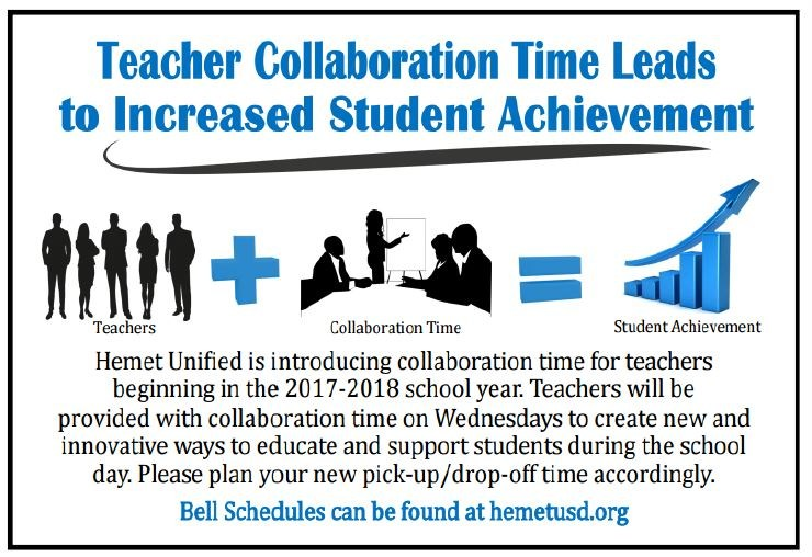 Teacher Collaboration flyer