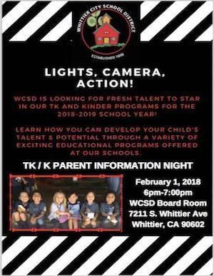 WCSD TK & Kinder Info Night Flyer