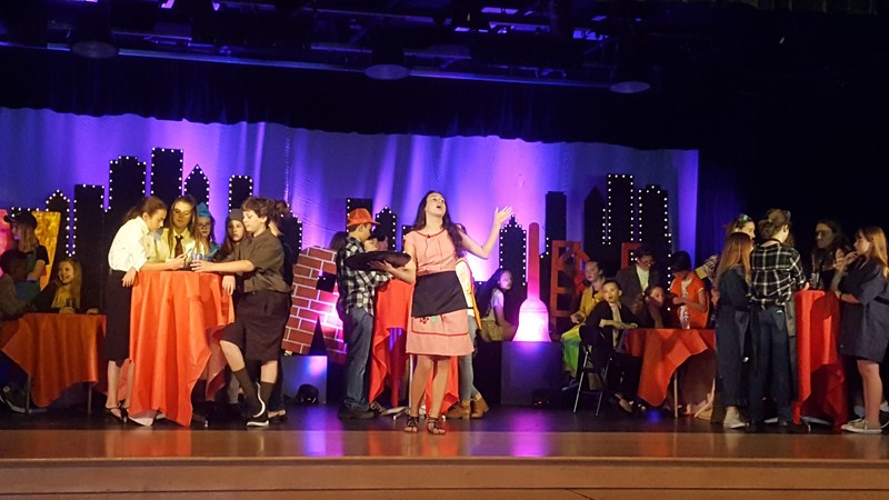 Students Perform Working the Musical.