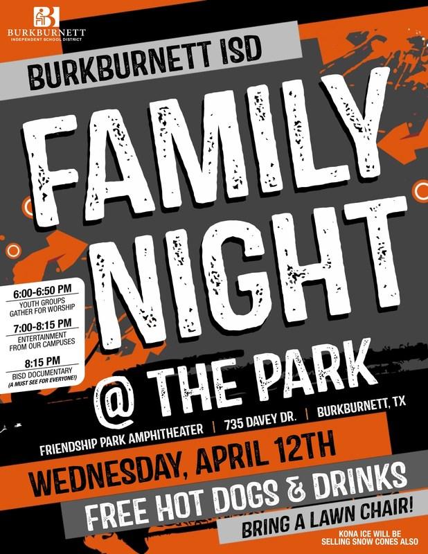 BISD FAMILY NIGHT @ THE PARK Thumbnail Image