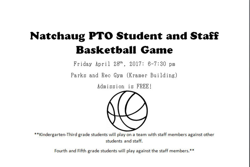 Natchaug PTO Students and Staff Basketball Game Thumbnail Image