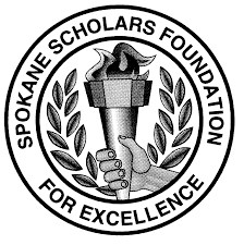 Student Scholar Emblem - hand holding a lighted torch with leafy branches