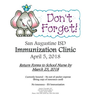 Immunization Clinic Flyer