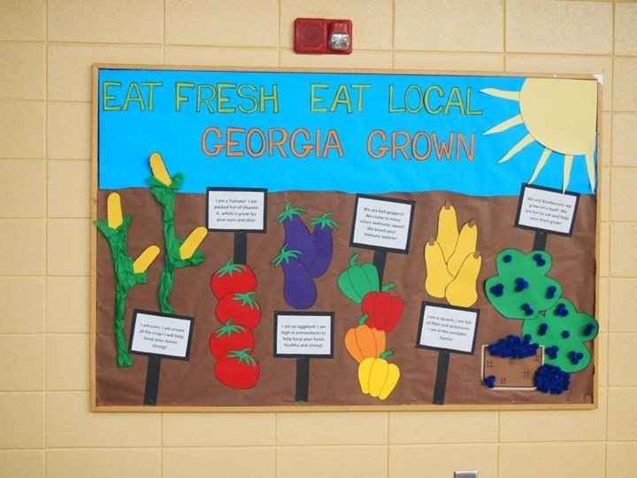 Wall art of fruit and vegetables