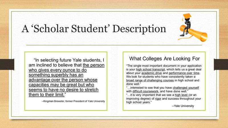 Description of a Scholar Student