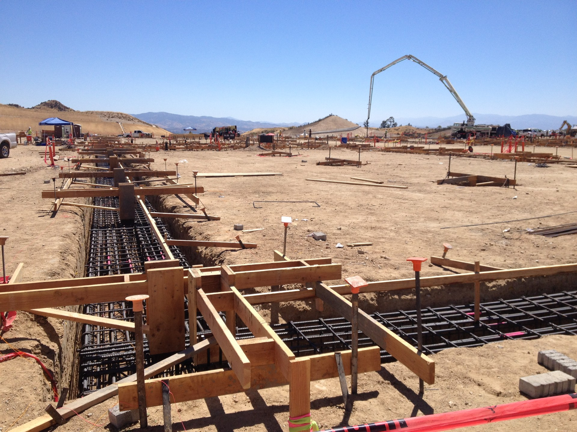 Photo: Rebar in place in a foundation trench at Castaic High School ready for concrete to be poured. June 16, 2017