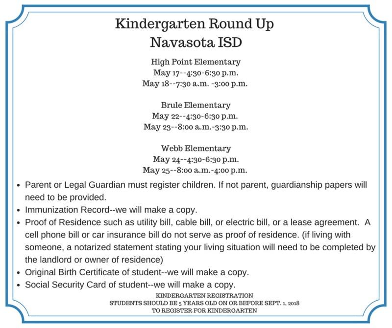 KINDERGARTEN ROUND UP 2018-2019 SCHOOL YEAR Featured Photo
