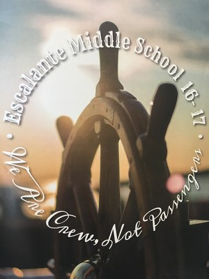 Image of the front cover of the 2016/17 Escalante Middle School yearbook