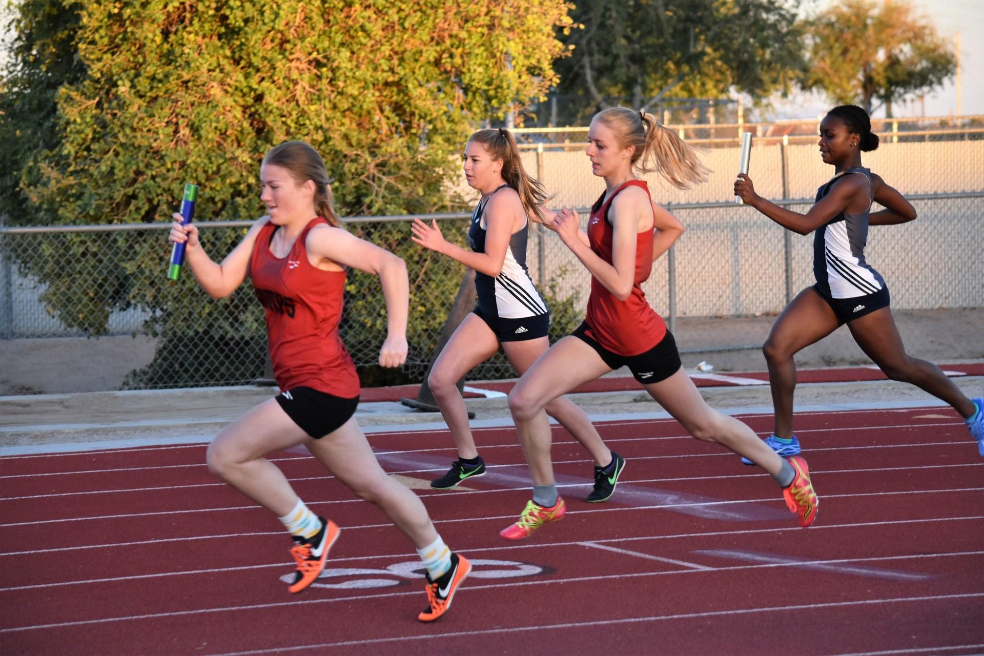 Girl relay race