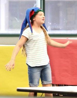 Cawston student reciting a Shakespeare soliloque