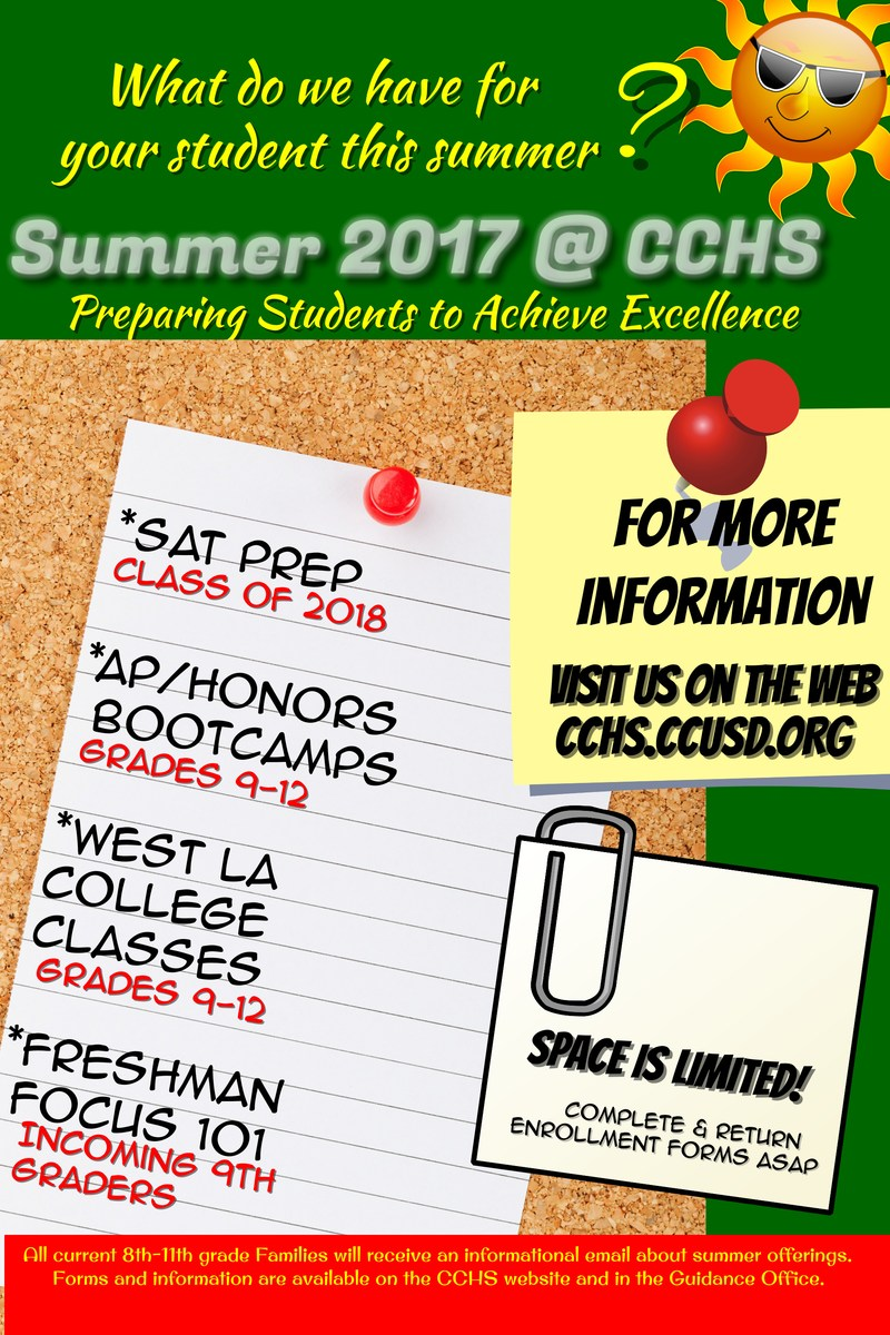 CCHS Summer 2017 Courses Thumbnail Image