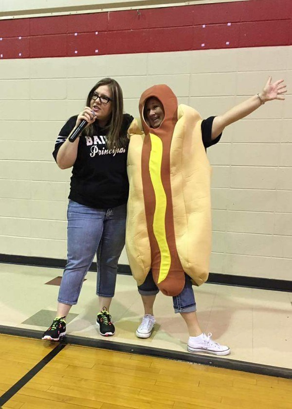 teacher as hot dog