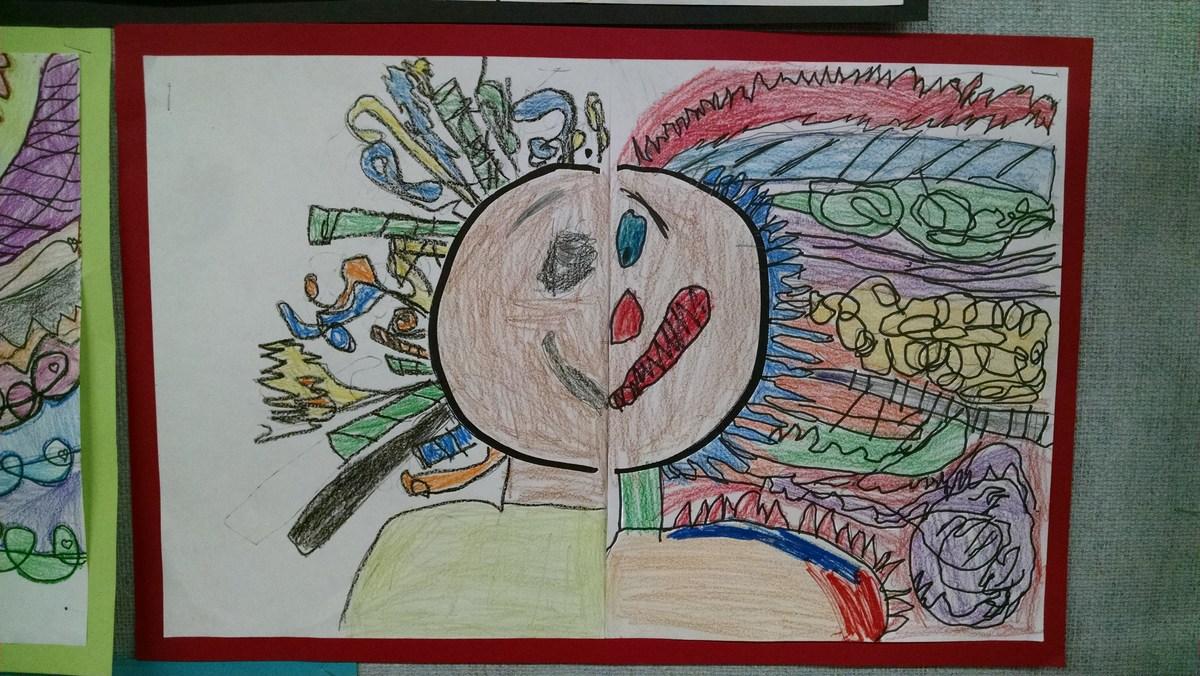 Student art work.