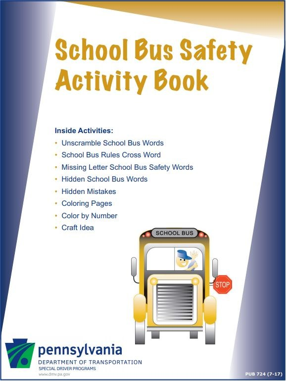 School Bus Safety Activity Book