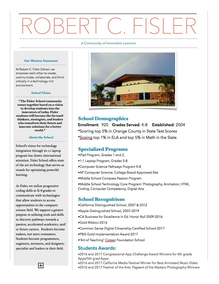 Fisler School Spotlight