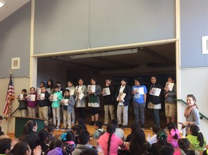 Students receiving Reading awards