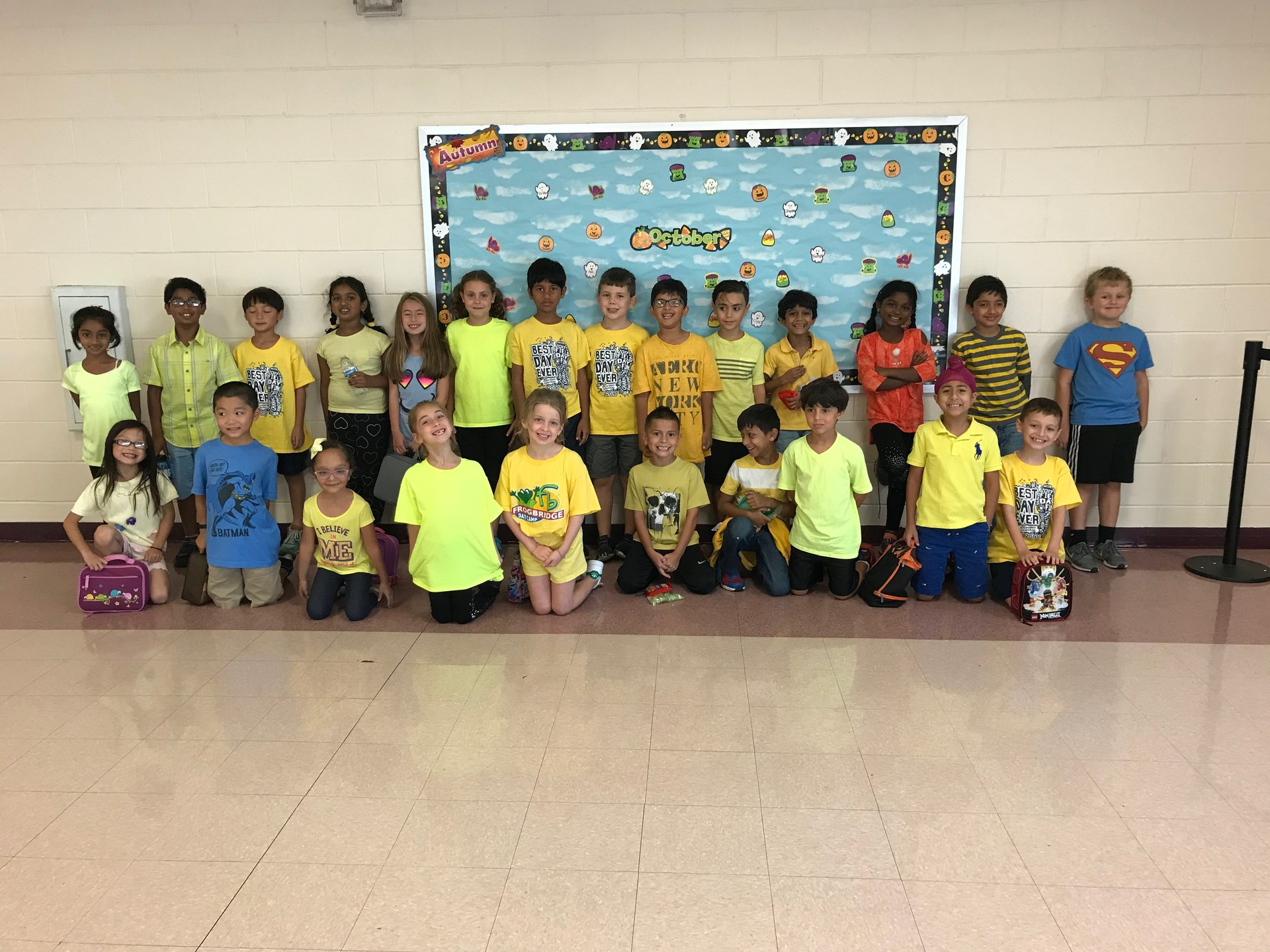 Wear yellow for RESPECT and the GOLDEN RULE.